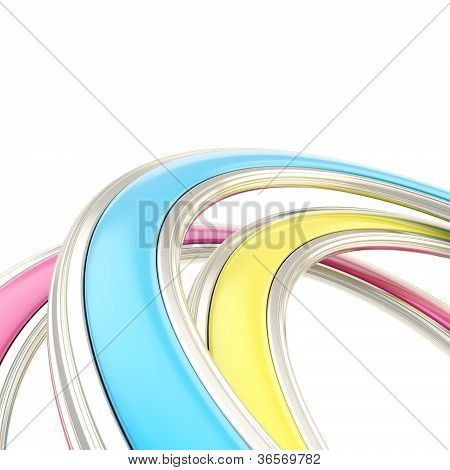Abstract Background Made Of Curved Arch