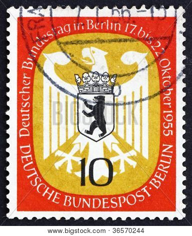 Postage stamp Germany 1955 Arms of Berlin