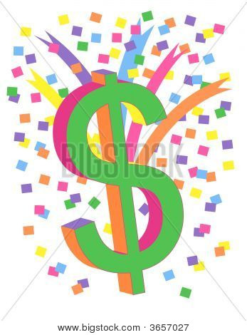 Colorful Dollar Sign