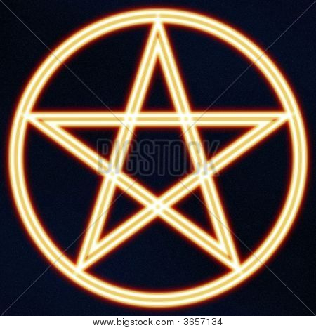 Glowing Pentagram