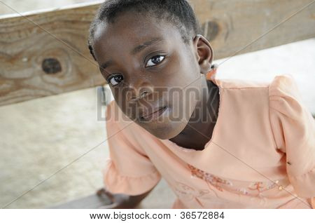 Haitian Kid in a church.