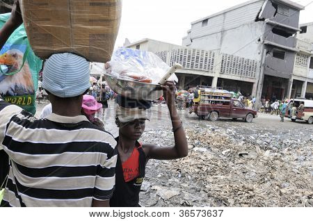 Daily worker in Haiti.
