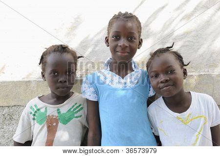 Three Haitian kids.