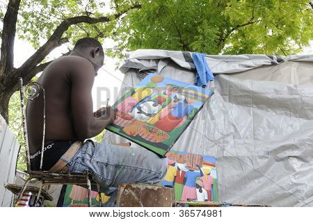 Painter in Haiti