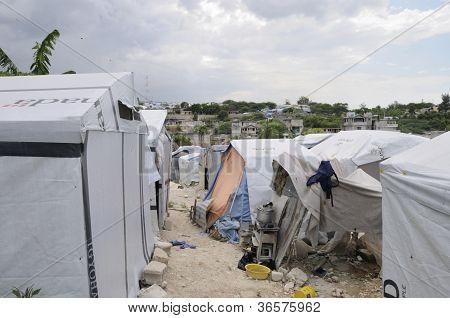 Alleyway in the tent cities.
