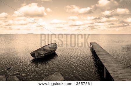 Boat Bridge And Sea