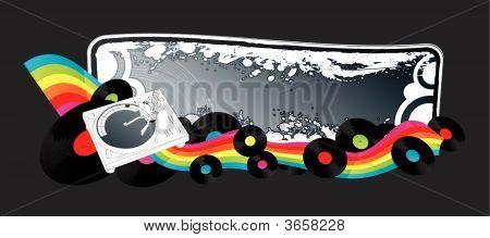 Clubbing Retro Music Banner