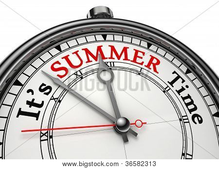 Summer Time Concept Clock