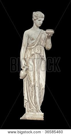 Ancient Greek statue of a muse