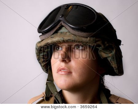 Face Of Army Girl