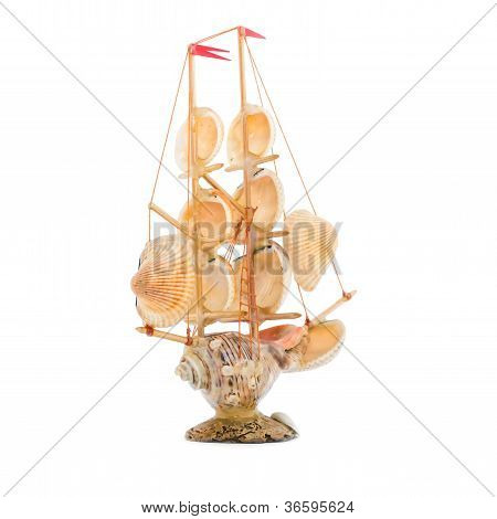 Souvenir, Sailing Vessel From Cockleshells.3
