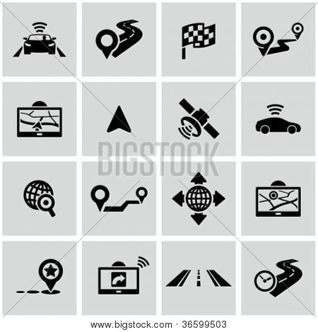 Navigation icons set.