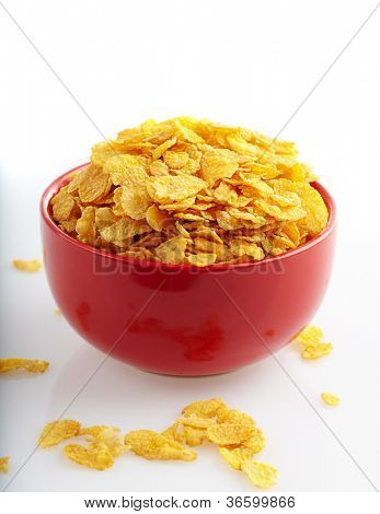 Bowl Of Cereal Isolated Over White Background