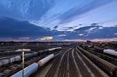 stock photo of railroad yard  - Europe - JPG