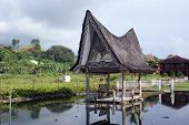 pic of minangkabau  - House on the water Samosir island lake Toba - JPG