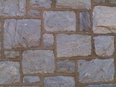 picture of fieldstone-wall  - stone wall - JPG
