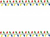 picture of christmas lights  - Background with string of Christmas lights in four different colors - JPG