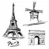stock photo of moulin rouge  - Paris - JPG