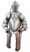 foto of reign  - Knights armour in the medieval castle isolated on white - JPG