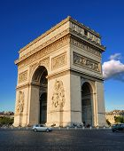 stock photo of charles de gaulle  - The Triumphal Arch  - JPG