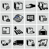 Logistics shipping icons set.