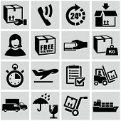foto of shipping receiving  - Shipping and delivery icons set - JPG