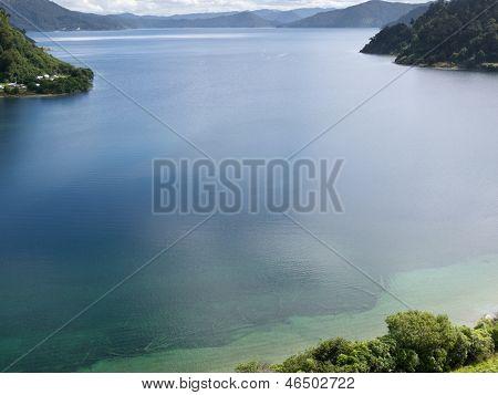 Lake Waikaremoana In Urewera Np North Island Of Nz