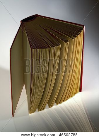 Hardback  Book Opened Vertically