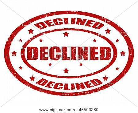 Declined-stamp