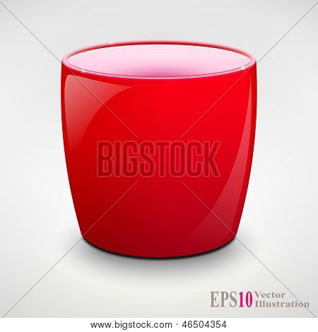 Isolated Realistic Tea Cup or Coffey Mug. Vector Illustration
