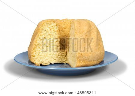 Cake isolated on white with clipping path