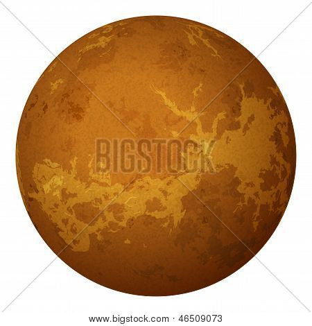 Planet Venus, isolated on white