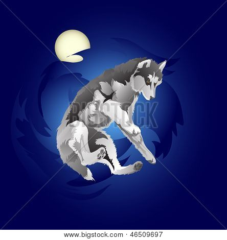 springenden wolf