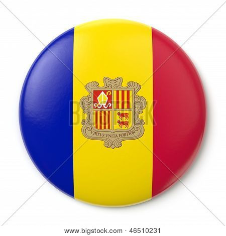 Andorra Pin-back