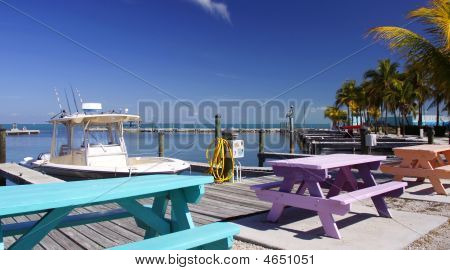 Florida Keys Colorful Marina