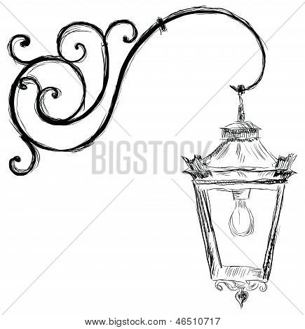 Lamp In Old Style