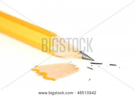 Sharpened pencil closeup