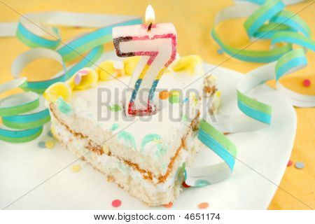 Slice Of Seventh Birthday Cake