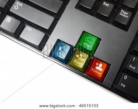Social Network Keyboard