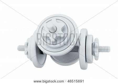 Two Metal Dumbbell For Weightlifting