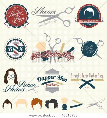 The Barbershop Labels and Icons