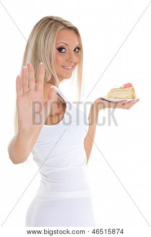 Young Woman With Cake.