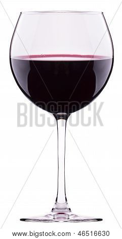 Red Wine Glass Isolated