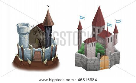 Evil And Good Castles