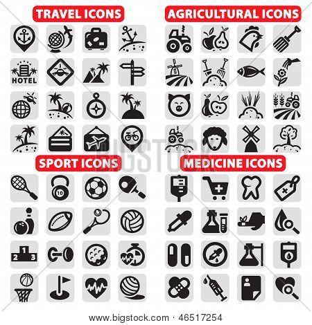 big icons vector set