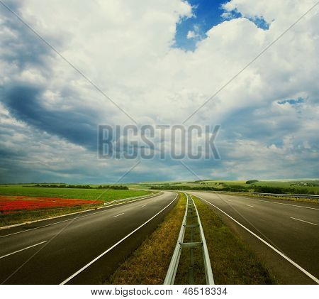 Empty Road Landscape