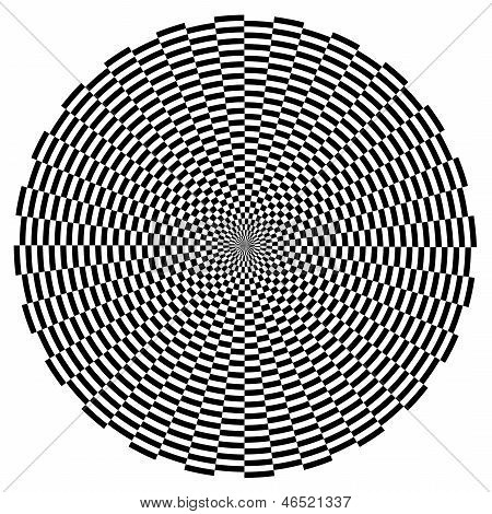 Optical Illusion, Spiral Design Pattern