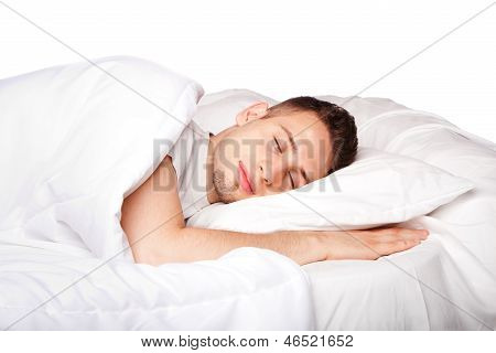 Asleep And Dreaming Man