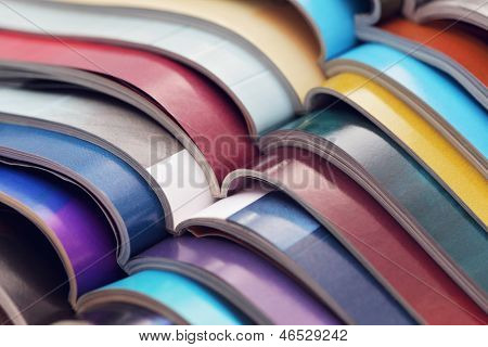 pile of colorful newspapers - relaxing time