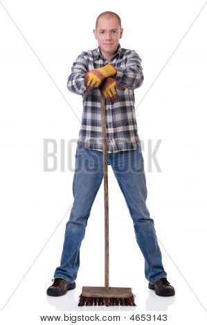 Man With Broom